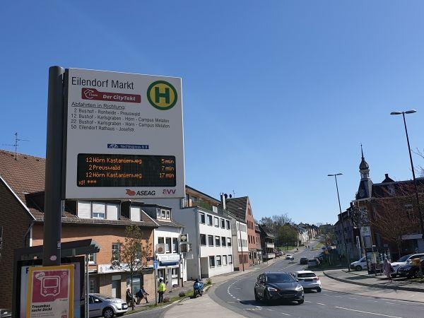 Aseag Haltestelle Eilendorf Markt, eilendorf.net